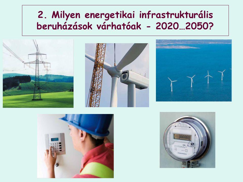 2. Milyen energetikai infrastrukturális beruházások várhatóak - 2020…2050?
