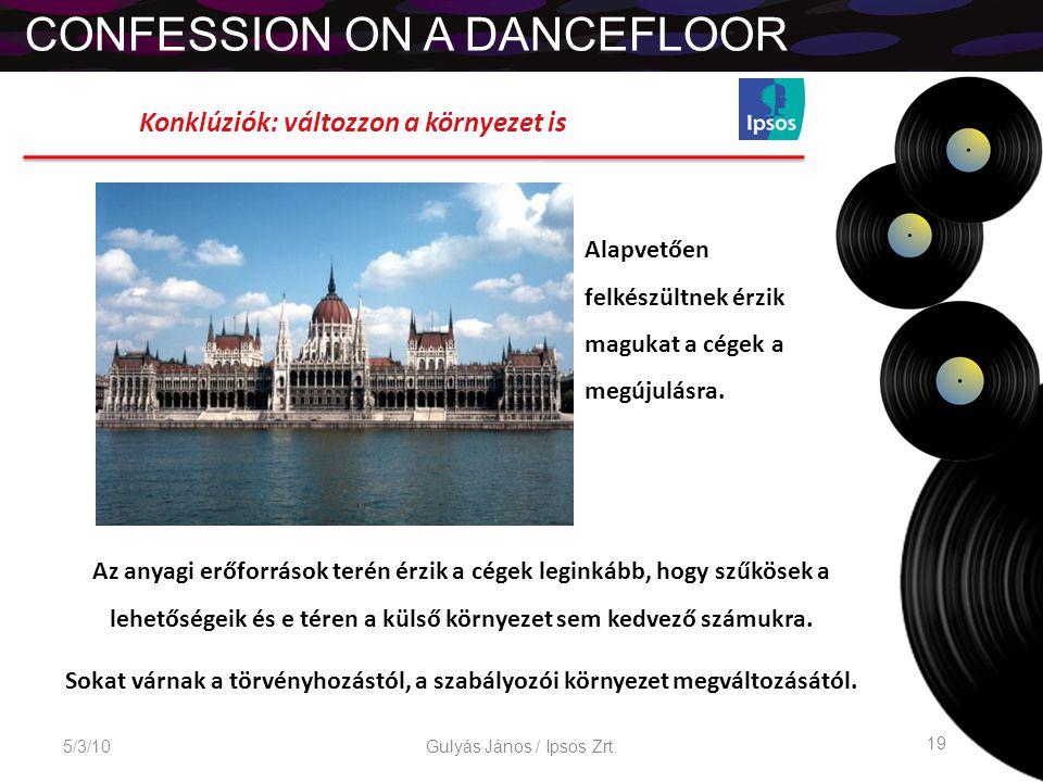 CONFESSION ON A DANCEFLOOR 5/3/10 19 Gulyás János / Ipsos Zrt.
