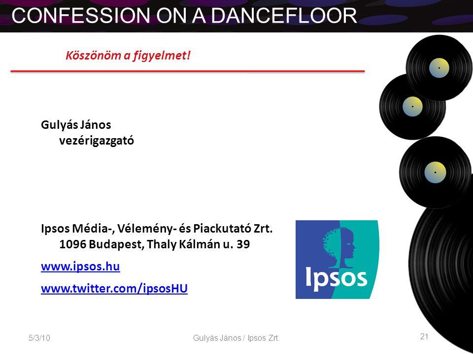 CONFESSION ON A DANCEFLOOR 5/3/10 21 Gulyás János / Ipsos Zrt.