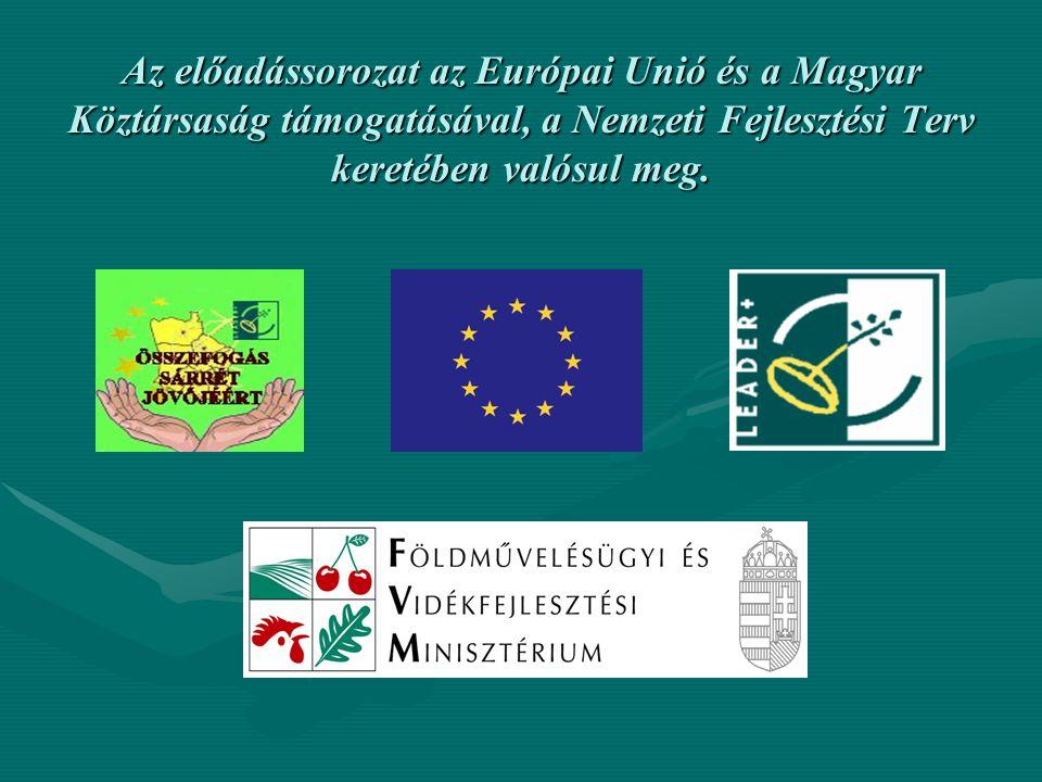 Az előadássorozat az Európai Unió és a Magyar Köztársaság támogatásával, a Nemzeti Fejlesztési Terv keretében valósul meg.