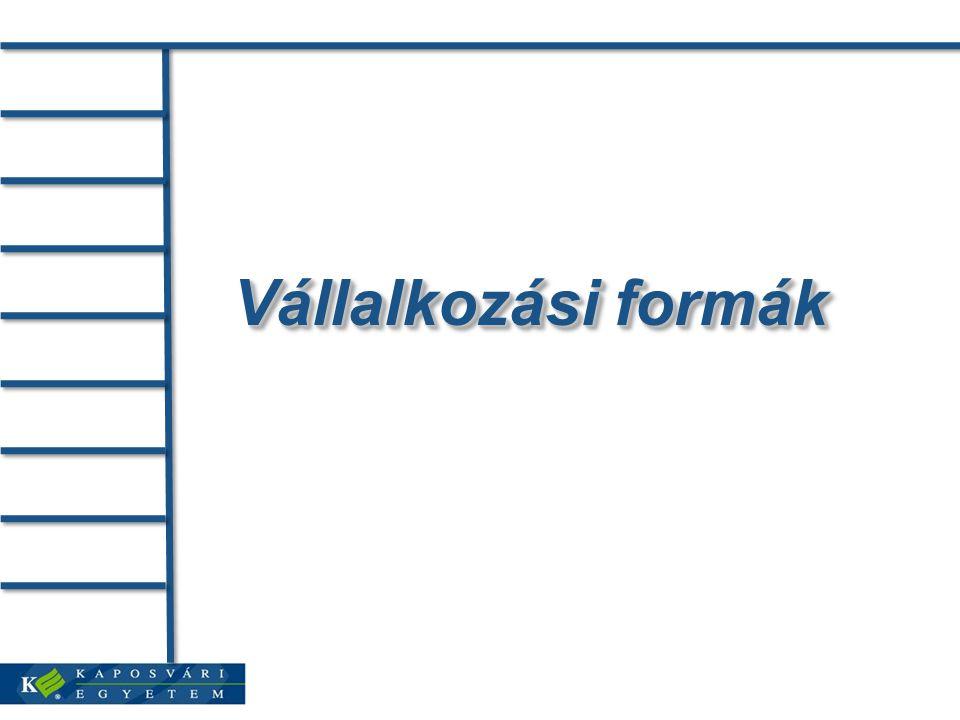 Vállalkozási formák
