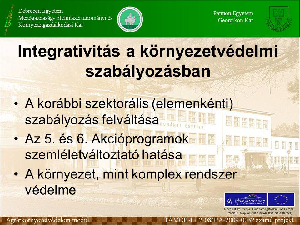 Egységes környezethasználati engedély 96/61/EK direktíva (IPPC) 1996.