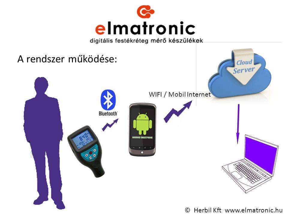 A rendszer működése: WIFI / Mobil Internet © Herbil Kft www.elmatronic.hu