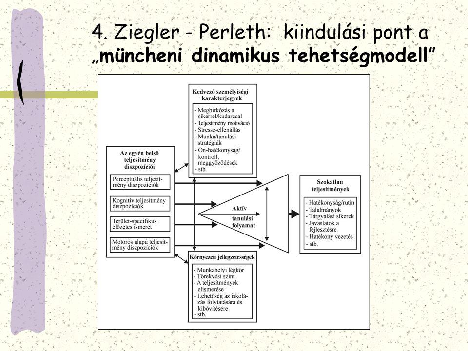 """4. Ziegler - Perleth: kiindulási pont a """"müncheni dinamikus tehetségmodell"""