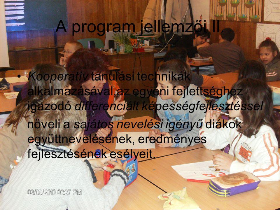 A program jellemzői III.