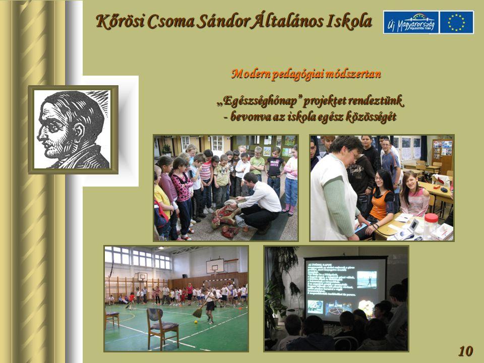 """10 Modern pedagógiai módszertan """" Egészséghónap projektet rendeztünk - bevonva az iskola egész közösségét Kőrösi Csoma Sándor Általános Iskola"""