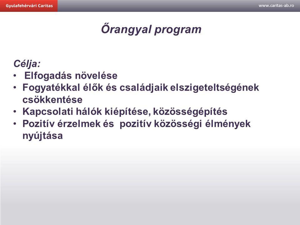 www.caritas-ab.ro Őrangyal program