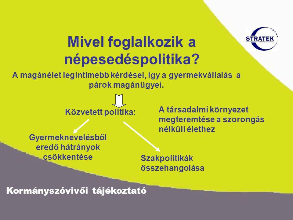Kormányszóvivői tájékoztató Mivel foglalkozik a népesedéspolitika.