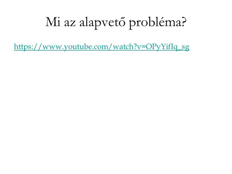 Mi az alapvető probléma https://www.youtube.com/watch v=OPyYifIq_sg
