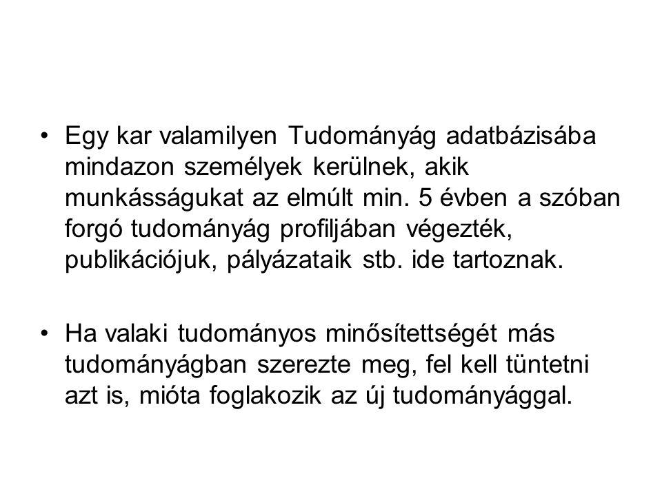 Magyarországi BSc kísérletek