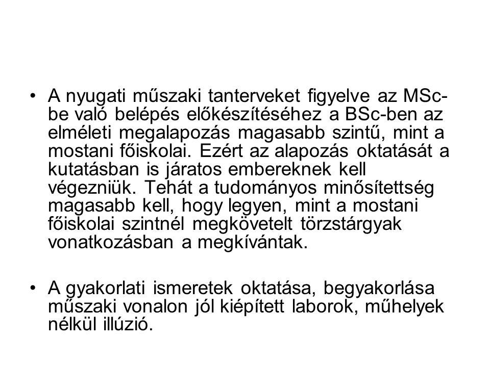 A MAB állásfoglalása a mesterképzések létesítéséről 2005/8/I/1.