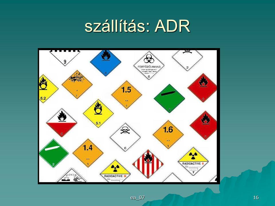 ea_07 16 szállítás: ADR