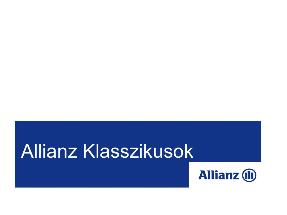 52 Allianz Klasszikusok RITMUS Megtakarítási program Célcsoport:  Fiatal felnőttek, a családalapítás kezdeti szakaszában Összetétel: Vegyes életbiztosítási fedezet100 000 Ft Baleseti halál100 000 Ft Baleseti rokkantság200 000 Ft