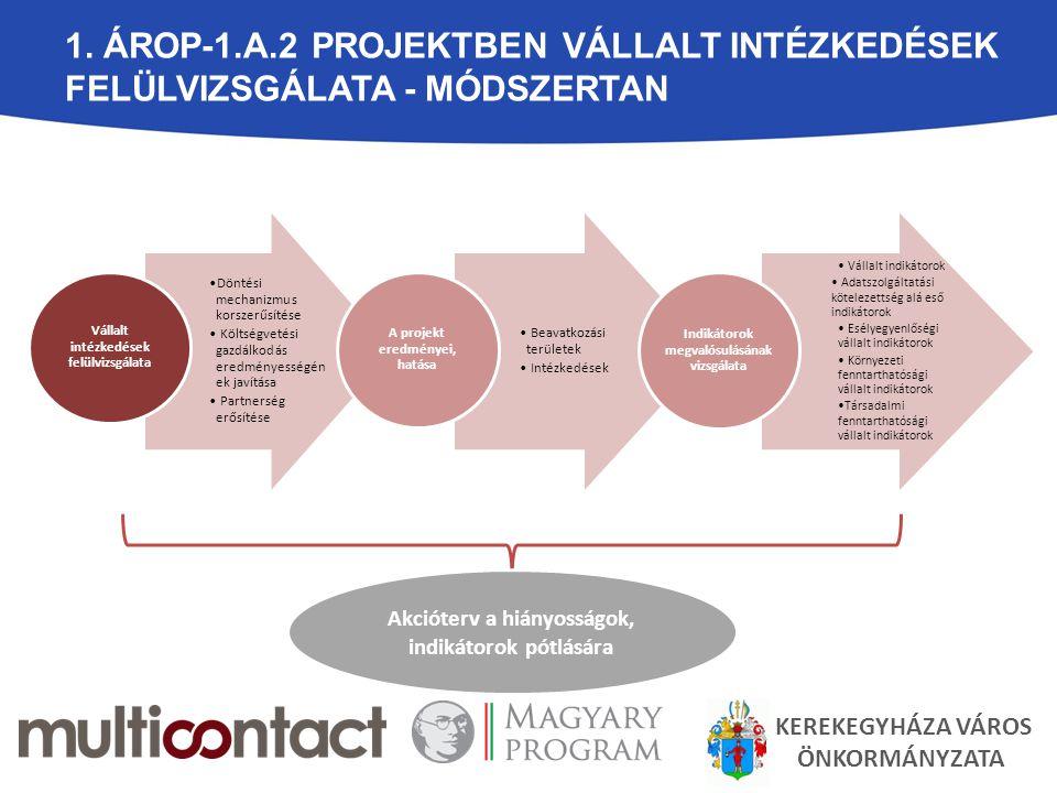 1. ÁROP-1.A.2 PROJEKTBEN VÁLLALT INTÉZKEDÉSEK FELÜLVIZSGÁLATA - MÓDSZERTAN Döntési mechanizmus korszerűsítése Költségvetési gazdálkodás eredményességé