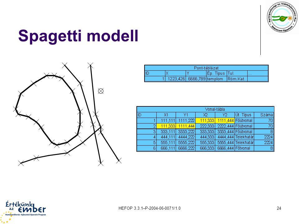 HEFOP 3.3.1–P-2004-06-0071/1.024 Spagetti modell