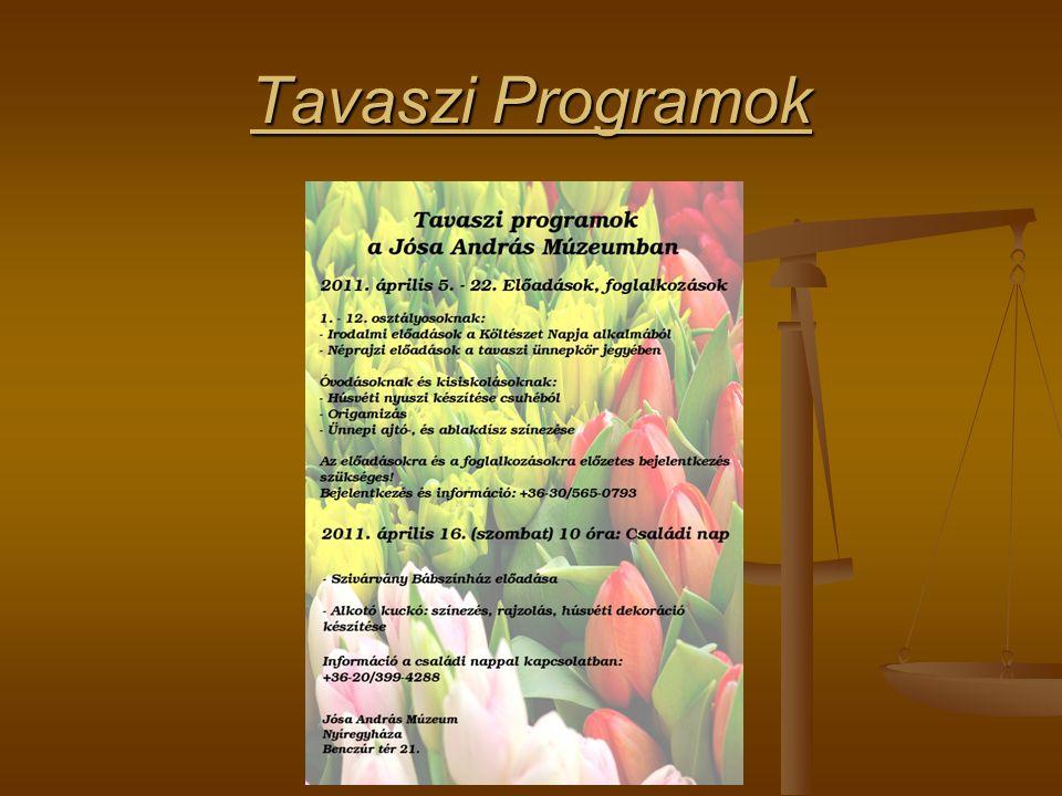 Tavaszi Programok