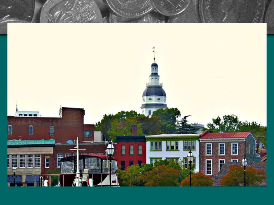 Annapolis: Maryland állam fővárosa, a Chesapeake- öböl partján fekszik a Severn folyó torkolatánál. A várost 1649-ben a virginai kolóniából száműzött