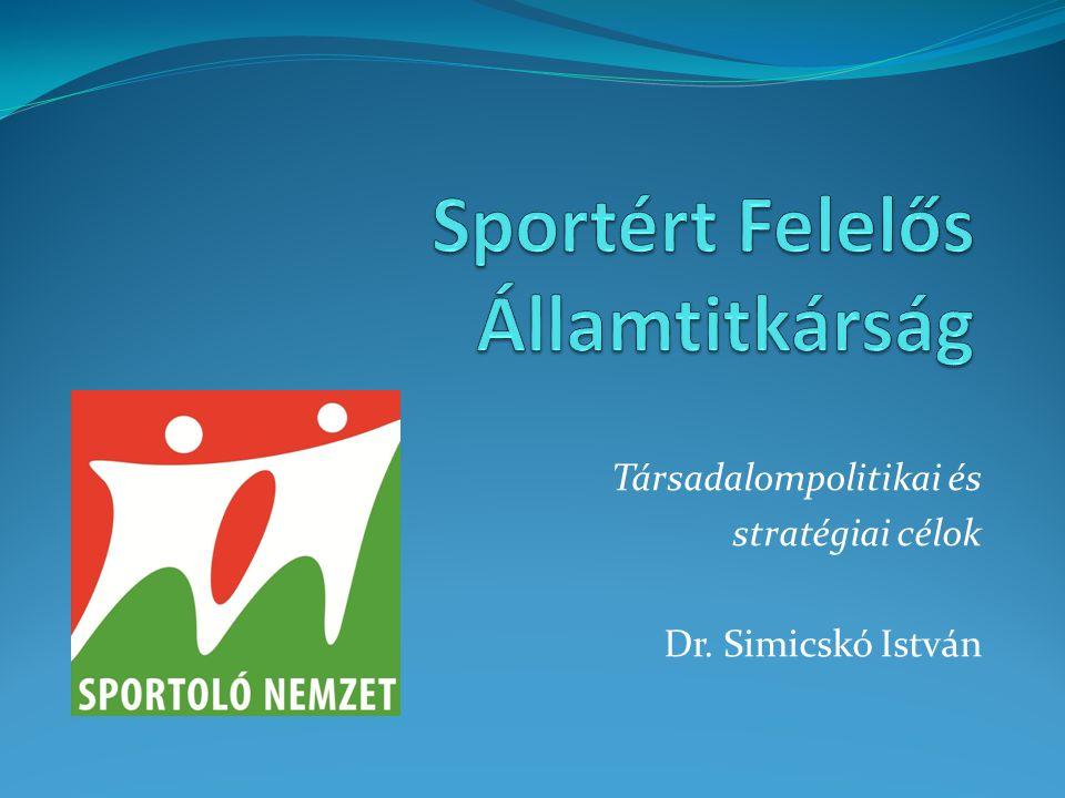 Társadalompolitikai és stratégiai célok Dr. Simicskó István