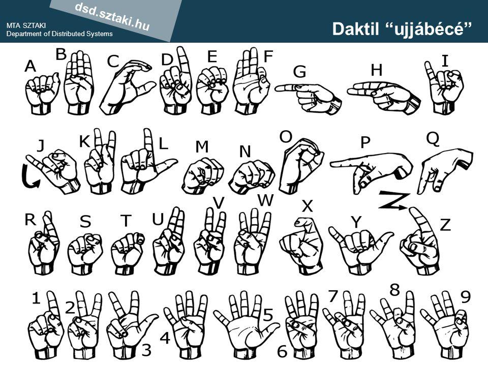 dsd.sztaki.hu MTA SZTAKI Department of Distributed Systems 13 Daktil ujjábécé