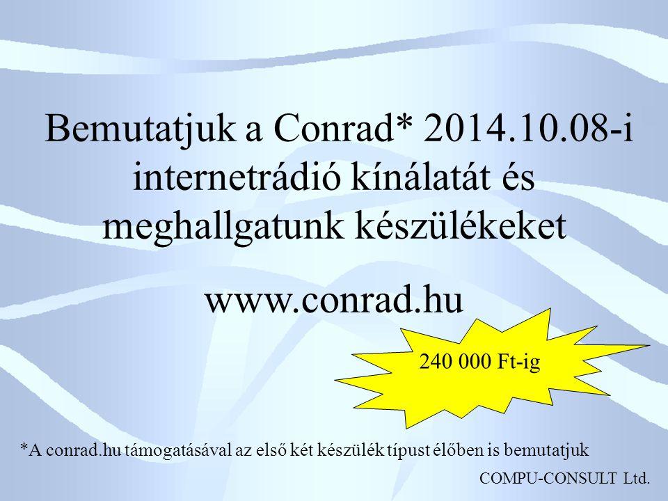 COMPU-CONSULT Ltd.Albrecht DR 870 HD-TV Internetrádió WLAN-on keresztül Kb.