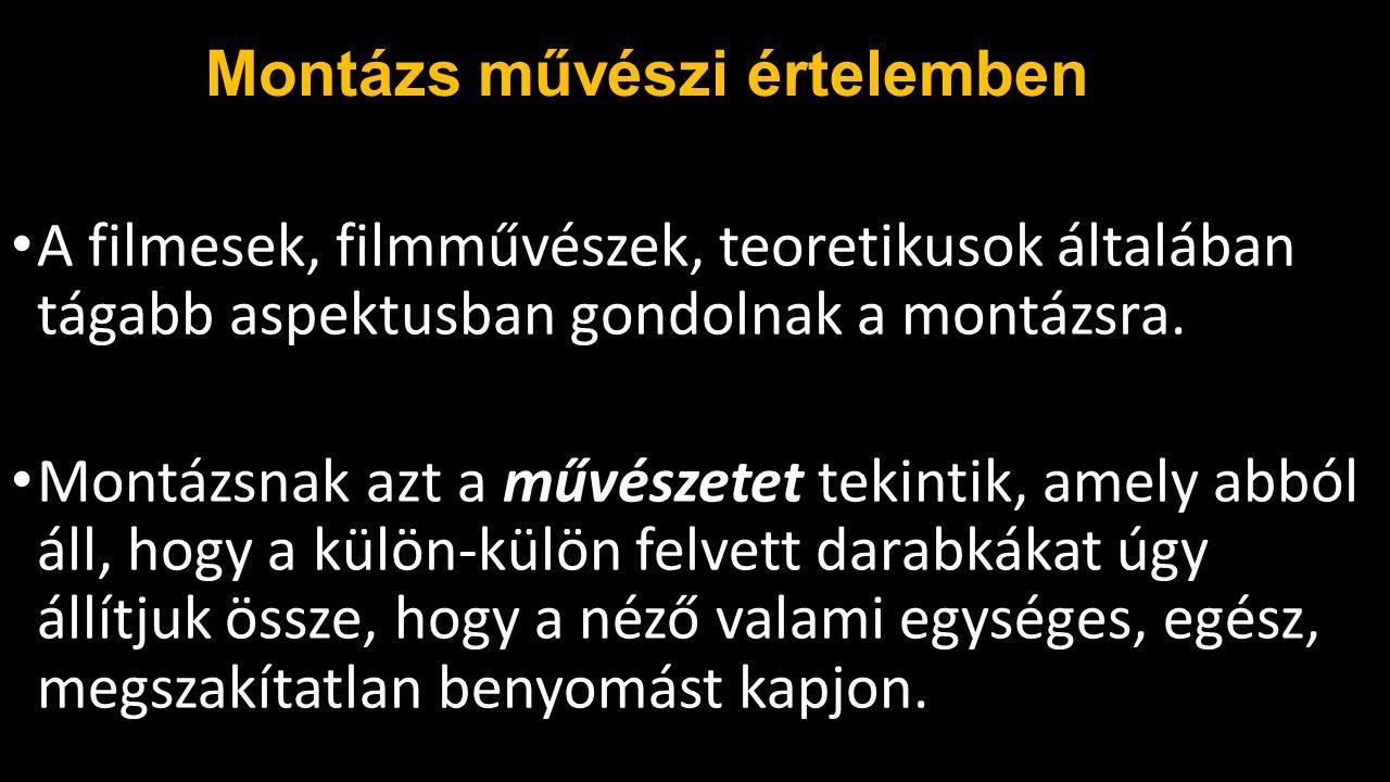 Dziga Vertov Híressé vált elmélete a Kinoglaz (filmszem) elmélet.