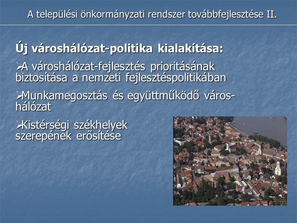A települési önkormányzati rendszer továbbfejlesztése II.