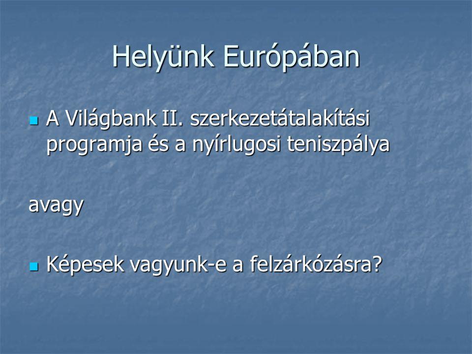 Helyünk Európában A Világbank II. szerkezetátalakítási programja és a nyírlugosi teniszpálya A Világbank II. szerkezetátalakítási programja és a nyírl
