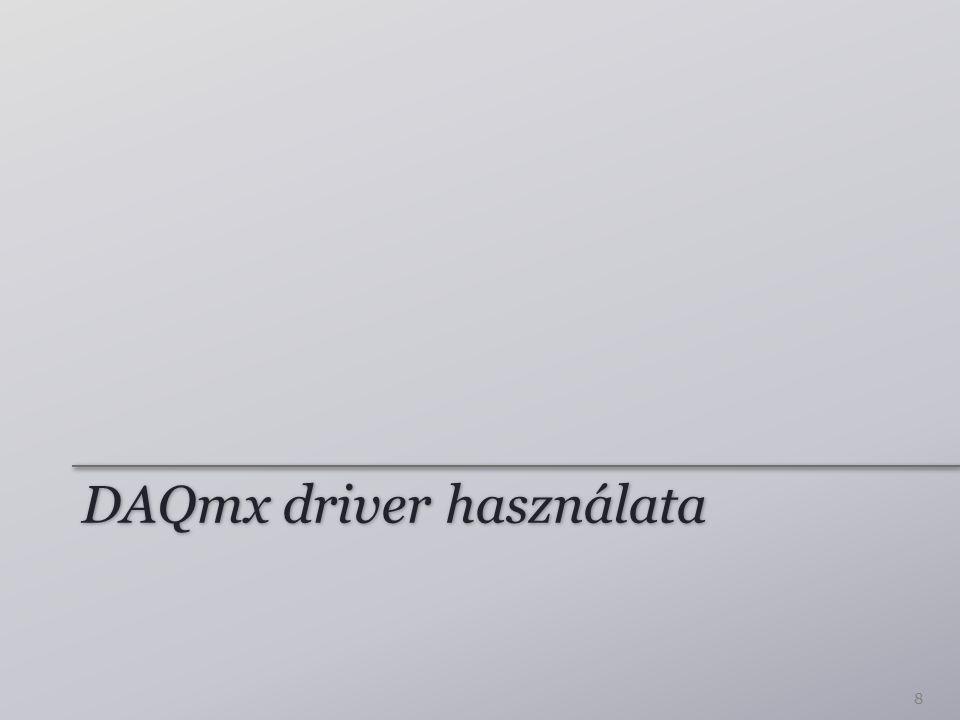 DAQmx driver használata 8