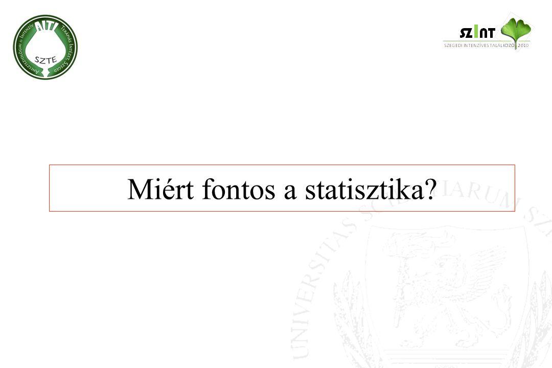Miért fontos a statisztika?
