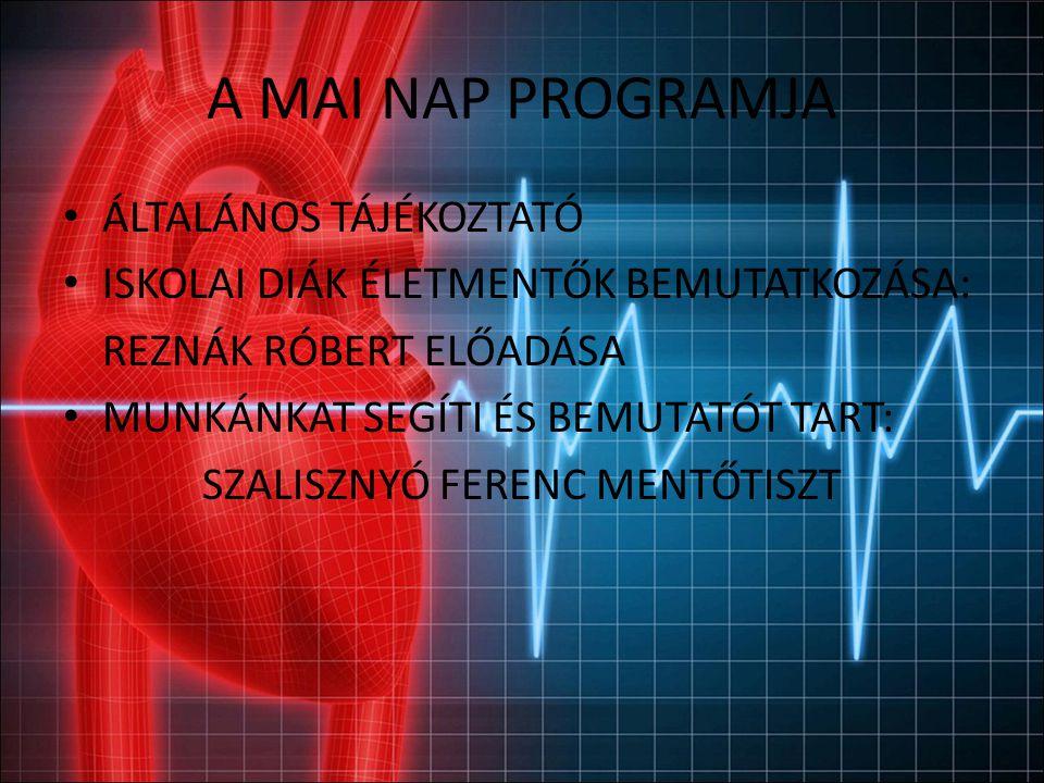 A Program, melyen ti is részt vesztek Laikus életmentés elsajátítása tanárok és diákok számára Elsősegélyhez szükséges félautomata defibrillátorok elhelyezése A PORTÁN!!