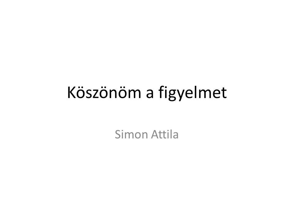 Köszönöm a figyelmet Simon Attila