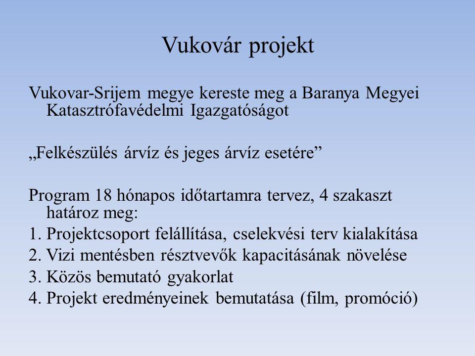 """Vukovár projekt Vukovar-Srijem megye kereste meg a Baranya Megyei Katasztrófavédelmi Igazgatóságot """"Felkészülés árvíz és jeges árvíz esetére"""" Program"""