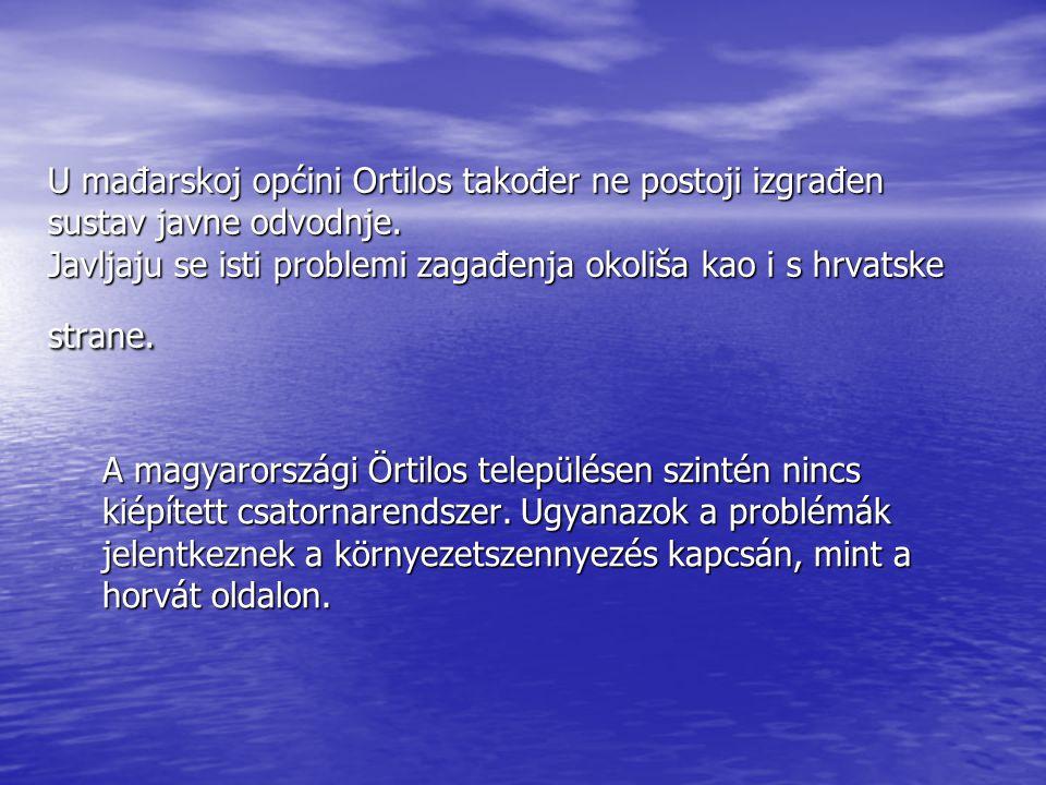 U mađarskoj općini Ortilos također ne postoji izgrađen sustav javne odvodnje.