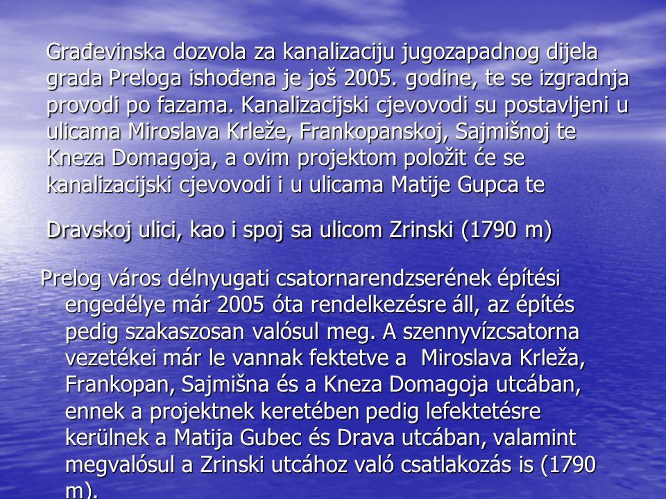 Građevinska dozvola za kanalizaciju jugozapadnog dijela grada Preloga ishođena je još 2005.