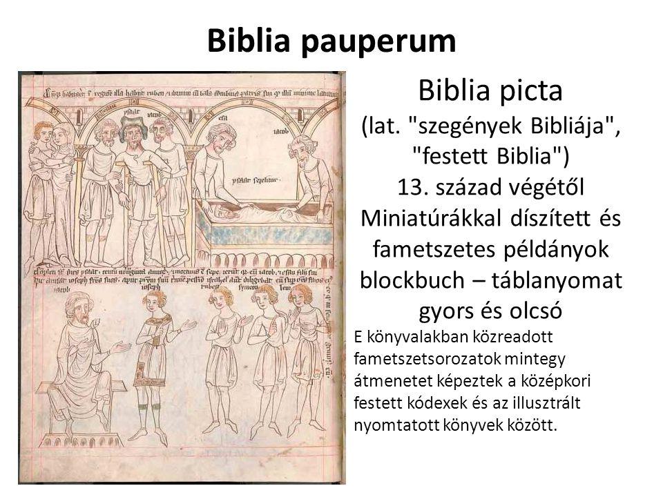 Biblia pauperum Biblia picta (lat.