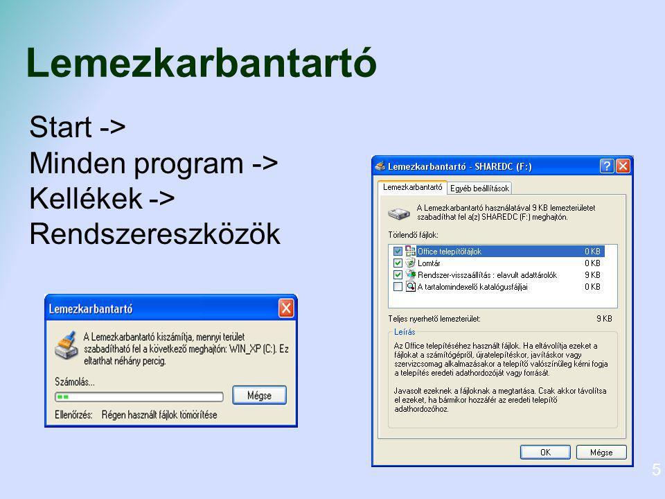 Vírusirtás Különböző vírusirtó programok segítségével (pl.