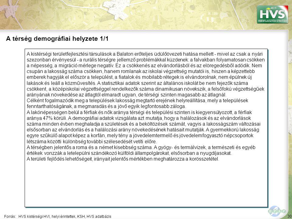 30 A kistérségi területfejlesztési társulások a Balaton erőteljes üdülőövezeti hatása mellett - mivel az csak a nyári szezonban érvényesül - a rurális térségre jellemző problémákkal küzdenek: a falvakban folyamatosan csökken a népesség, a migráció mérlege negatív.
