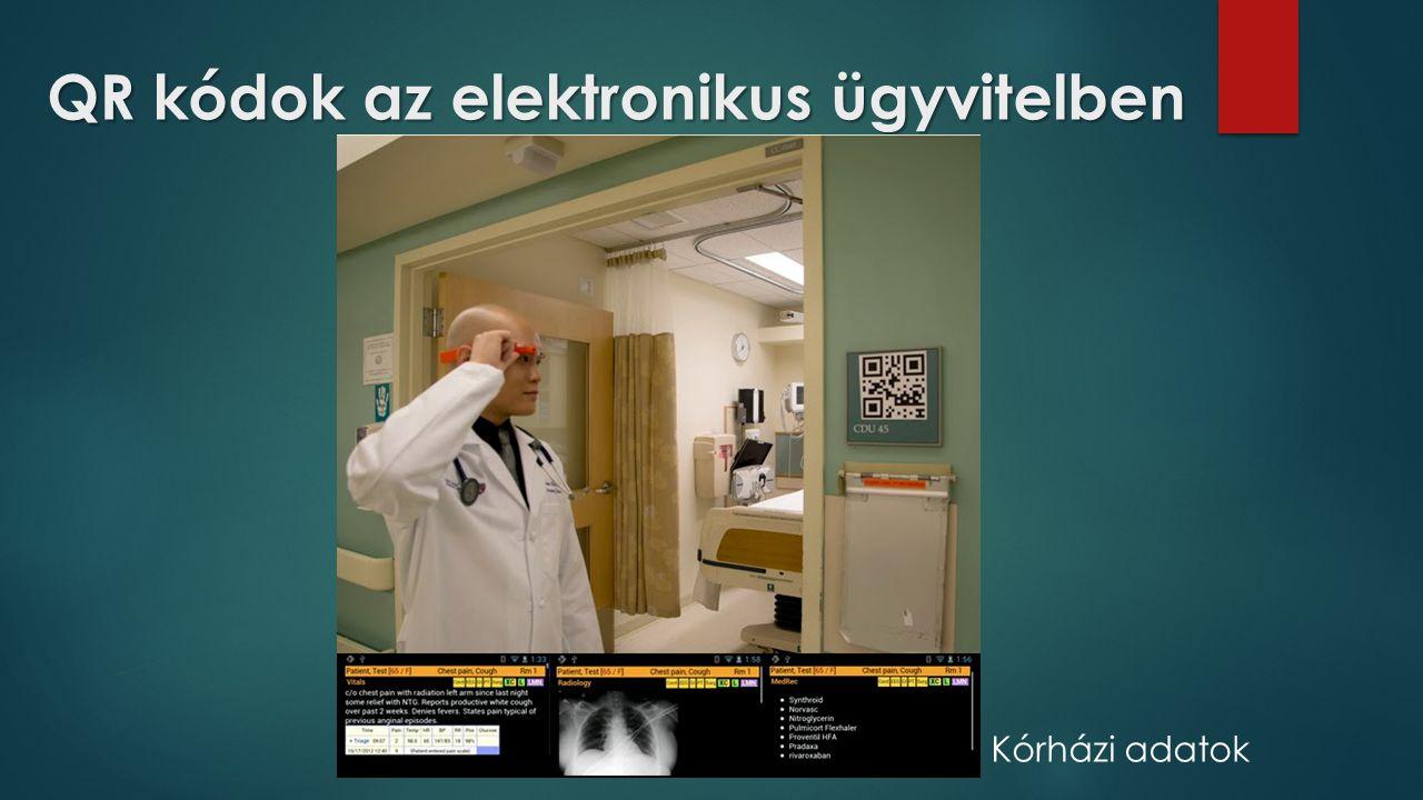 QR kódok az elektronikus ügyvitelben Kórházi adatok
