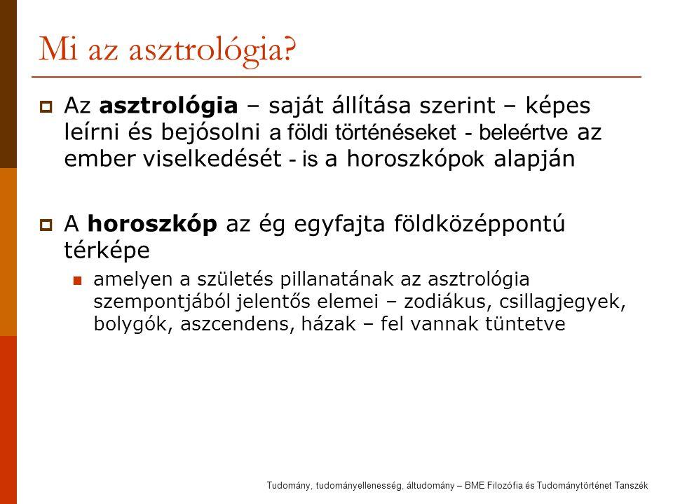 Mi az asztrológia?  Az asztrológia – saját állítása szerint – képes leírni és bejósolni a földi történéseket - beleértve az ember viselkedését - is a