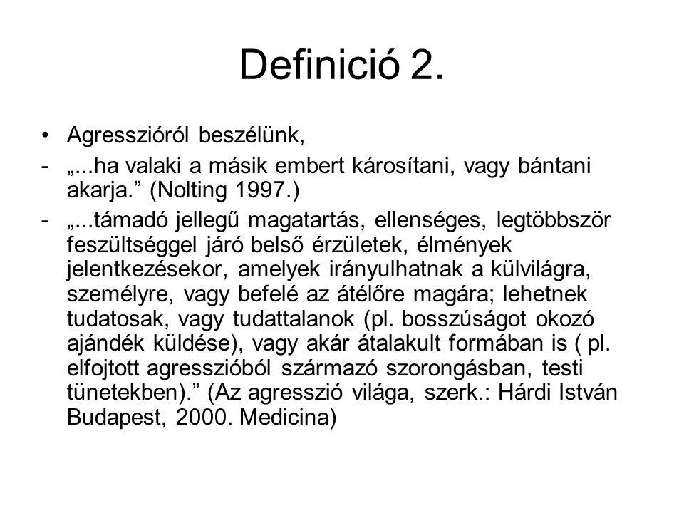 Az agresszió tünetei 1.