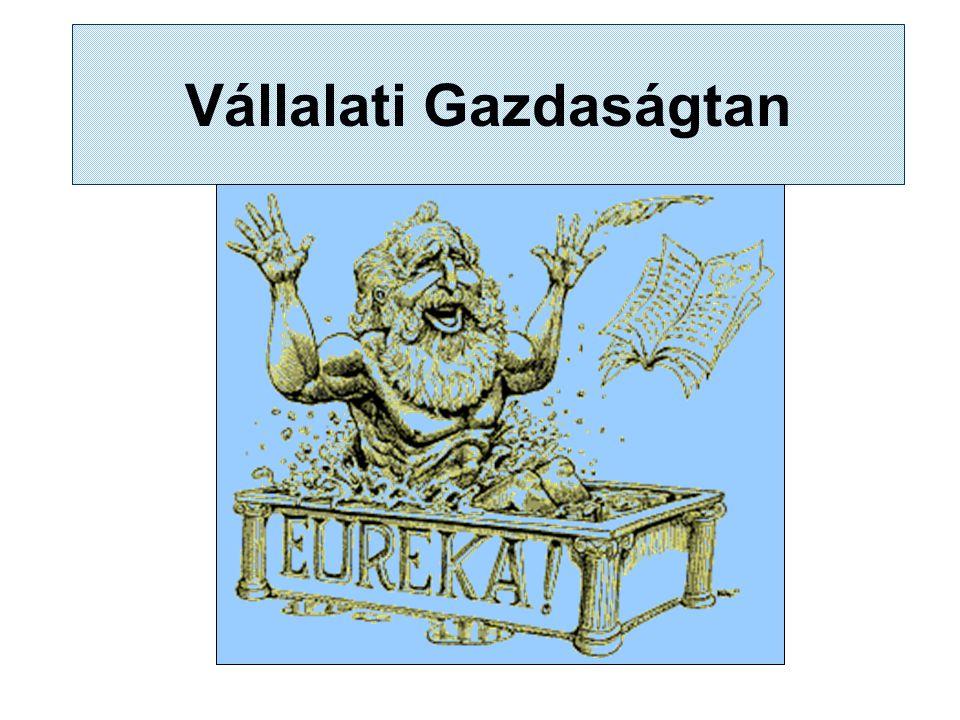 Vállalati gazdaságtan Kötelező és ajánlott irodalom Kötelező irodalom: 1.Chikán Attila: Vállalatgazdaságtan, Aula, 2003.