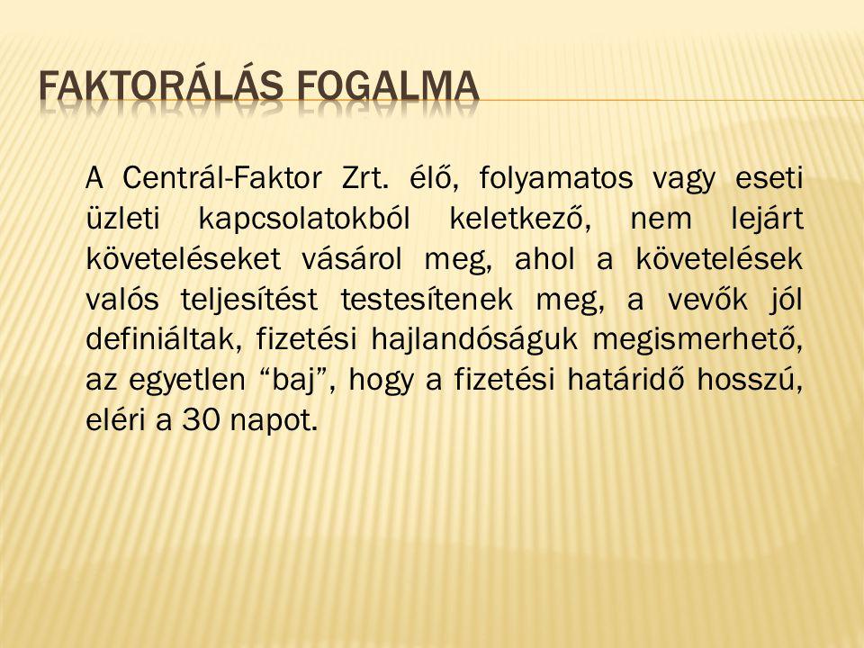 A Centrál-Faktor Zrt.