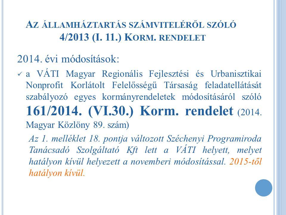 2014.ÉVI VÁLTOZÁSOK - PONTOSÍTÁS  Mérlegkészítés időpontja [Áhsz.