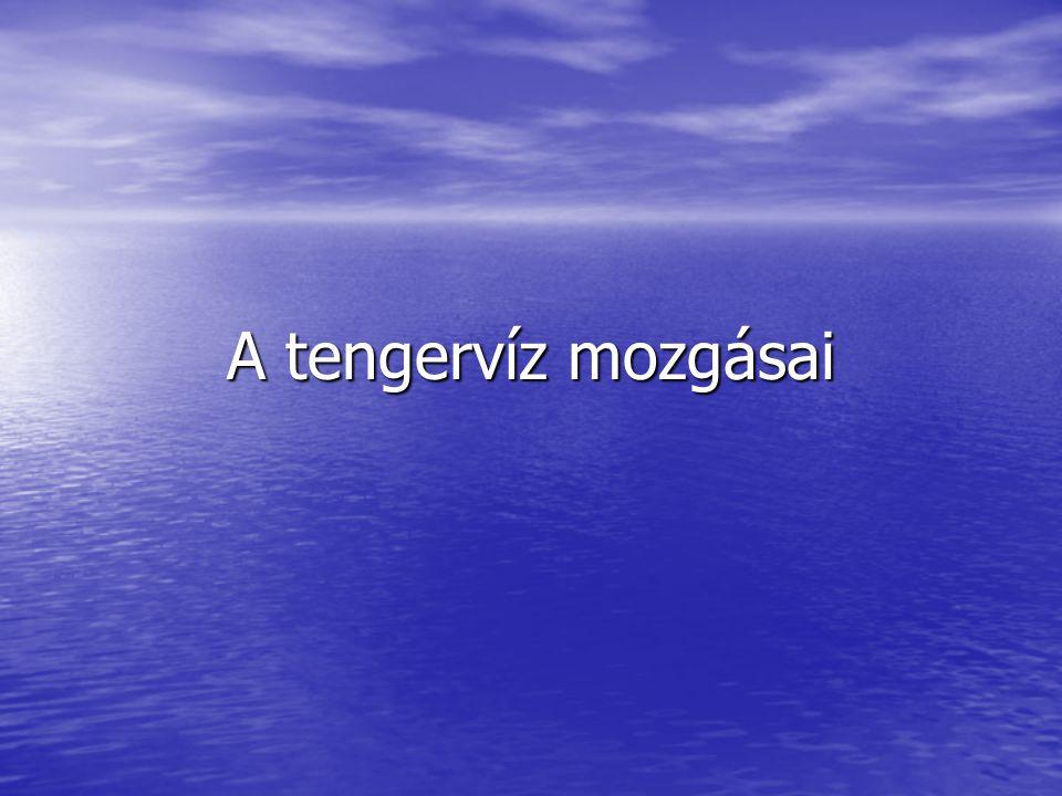 A tengervíz mozgásai