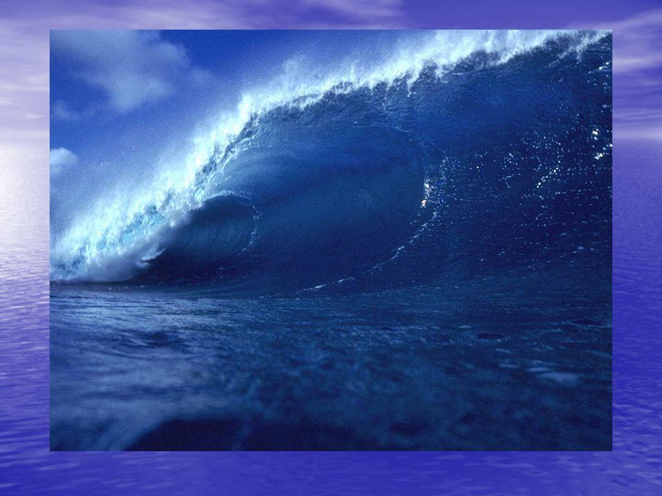 Hullámmorajlás Hullámmorajlás –Sekély partokon játszódik le, ahol a vízrészecskék a fenéknek ütköznek, megtörik és tajtékozva fut a partra