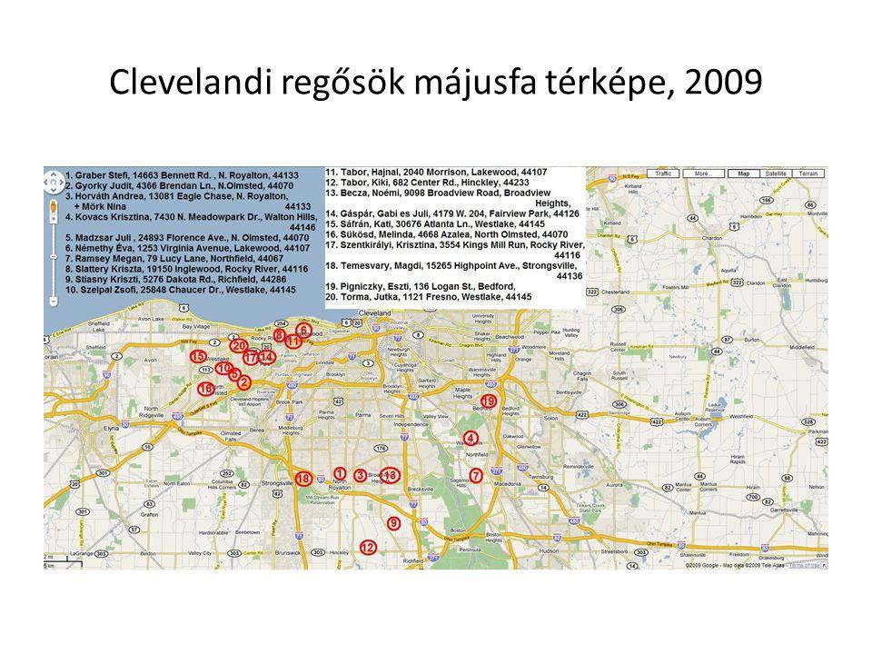 Clevelandi regősök májusfa térképe, 2009