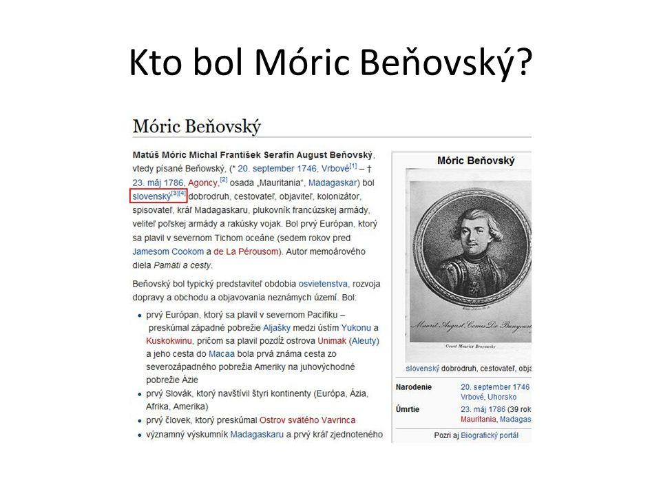 Kto bol Móric Beňovský?