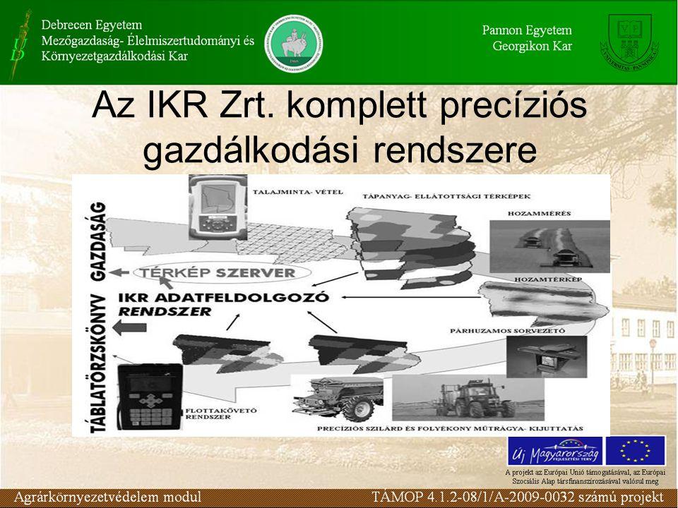 Az IKR Zrt. komplett precíziós gazdálkodási rendszere