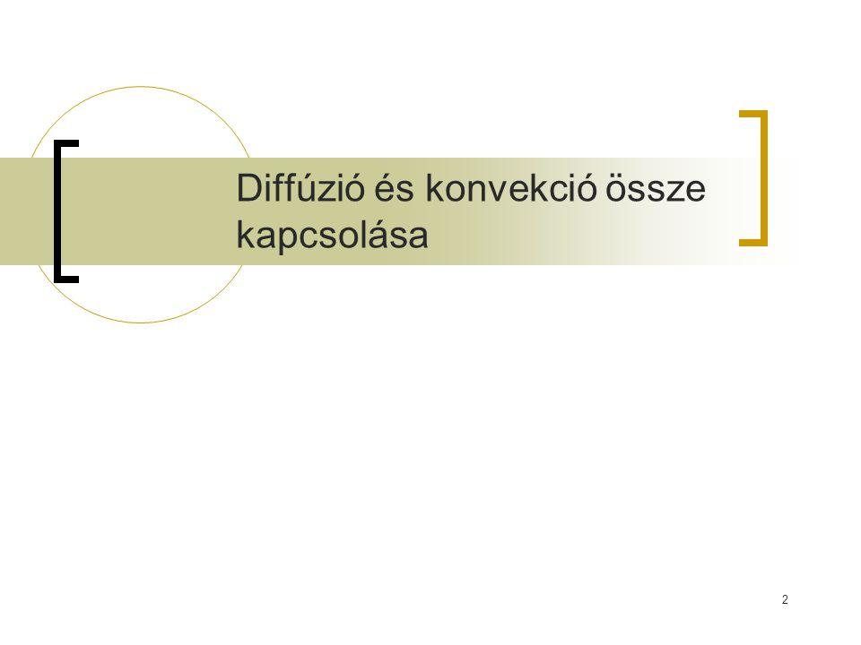 Diffúzió és konvekció össze kapcsolása 2