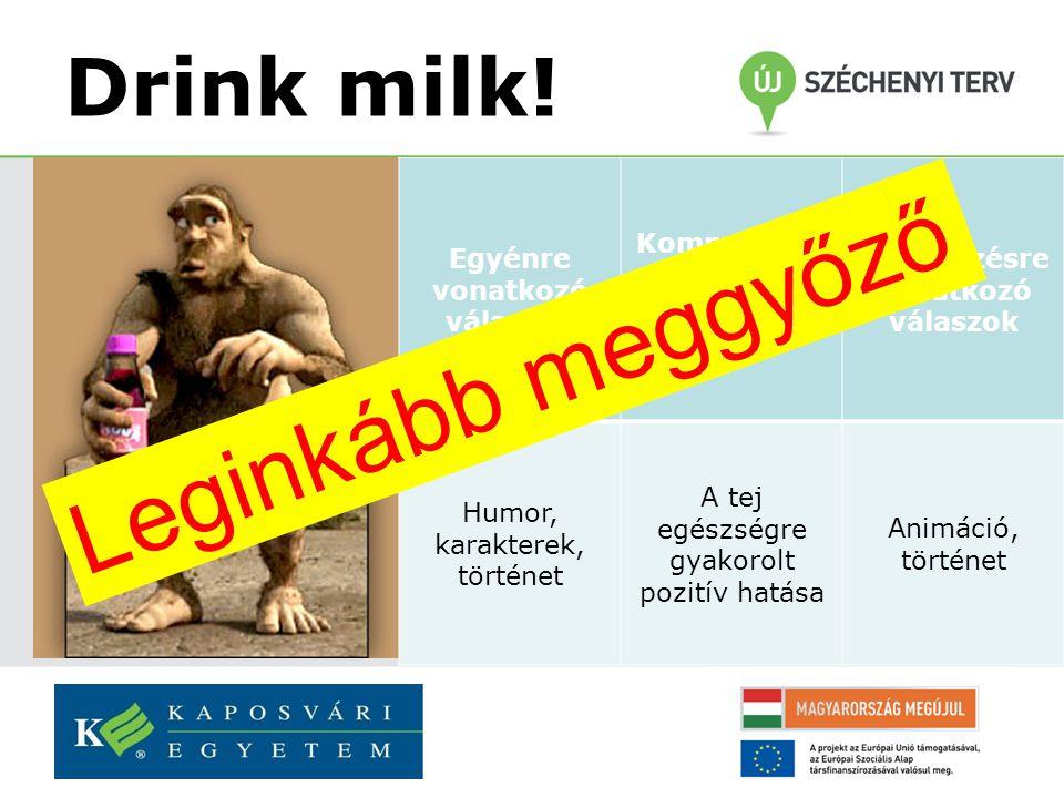 Drink milk.